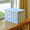 Large square non woven baby toys underwear storage box