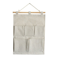 5 Pocket Fabric Customized Hanging Wall Home Organizer